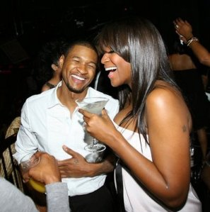 usher and tameka in vegas